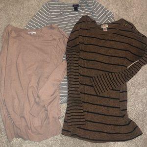 Lightweight long sleeved maternity tops